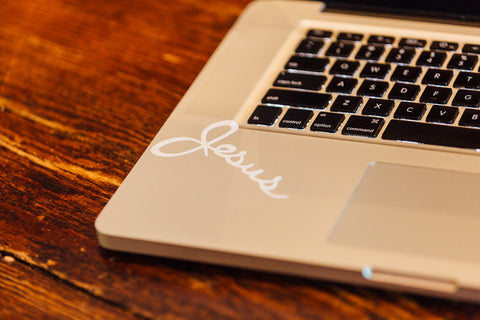 Jesus Sticker (2 Pack) | White
