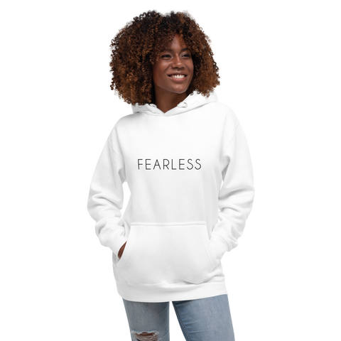 Fearless Hoodie In White - Limited Time