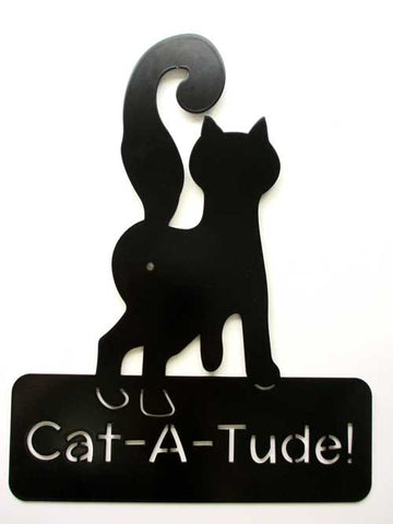 Cat-A-Tude! Greeting Sign