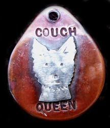 Couch Queen Dog Tag Necklace