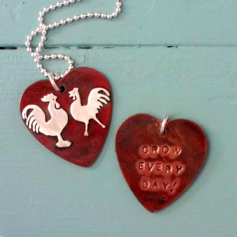 Crow Everyday Chicken & Rooster Necklace