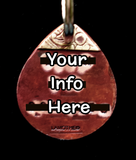 Small Dog Tag - Back Side