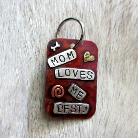 Large Dog Tag - Mom Loves Me Best!