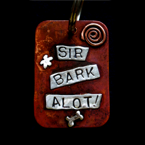 Large Dog Tag - Sir Bark Alot!