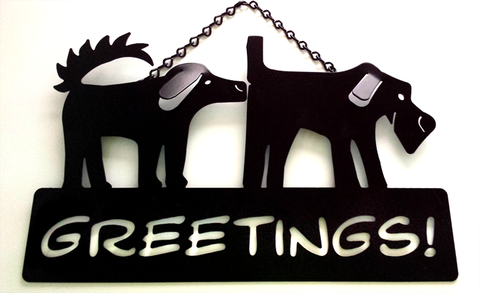 Greetings Porch Sign, Mixed Greet
