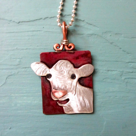 Mooey Bueno Cow Necklace (front)