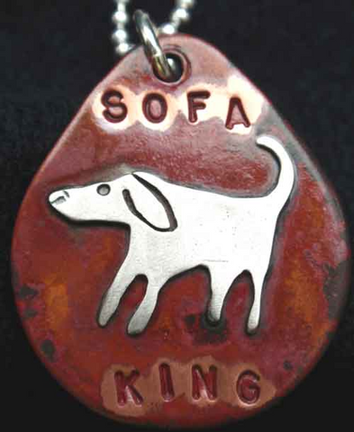 Sofa King Dog Tag Necklace