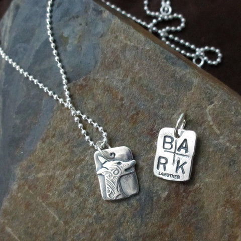 B-A-R-K! Charm Dog Necklace