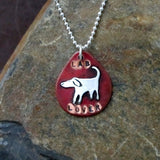Lab Lover Dog Tag Necklace
