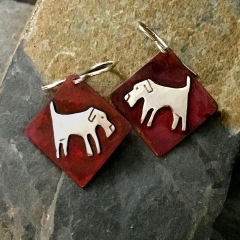 Gracie the Dog Earrings