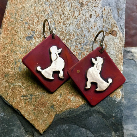 Elvis the Dog Earrings