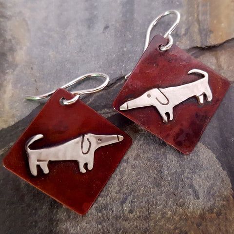 Cecil the Dog Earrings