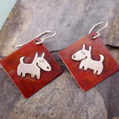 Chester the Dog Earrings