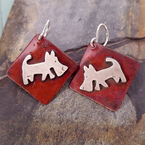Scrappy the Dog Earrings