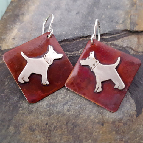 K-9 the Dog Earrings