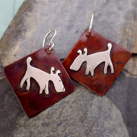 Eddie the Dog Earrings