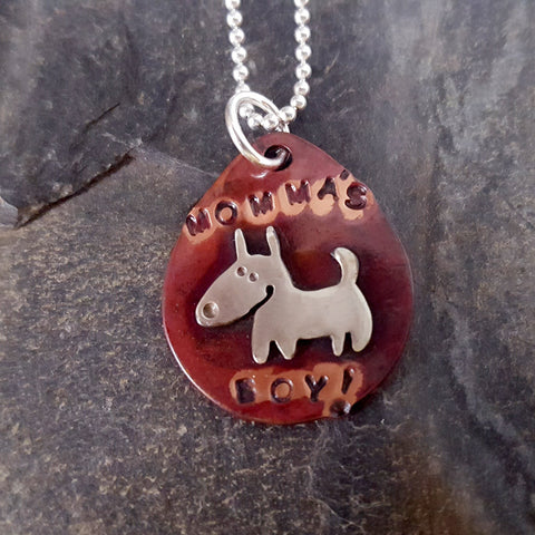Momma's Boy Dog Tag Necklace