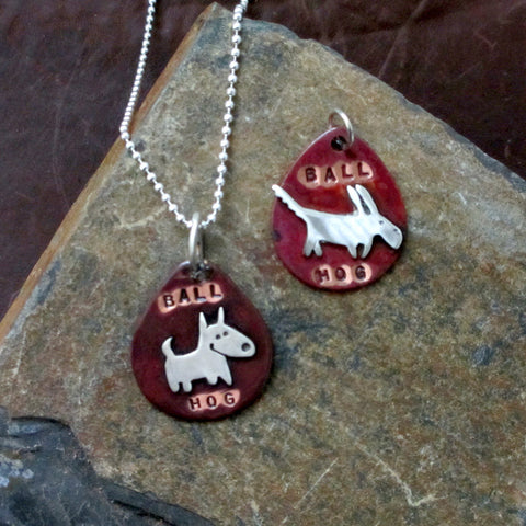 Ball Hog Dog Tag Necklace