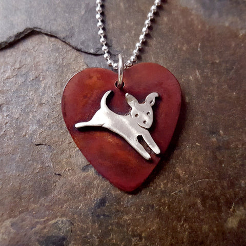 Live, Laugh, Bark Dog Necklace
