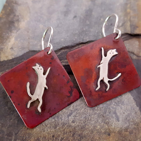 Jasper the Cat Earrings