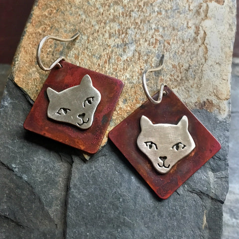 Mokie the Cat Earrings