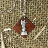 Simply Smokey Horse Necklace