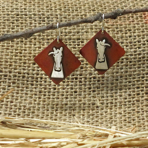 Smokey the Horse Earrings