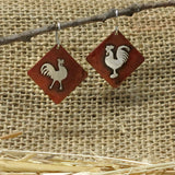 Quite the Pair! Chicken Earrings