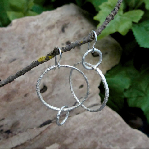 Yin-Yang Twig Hoop Earrings