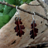 Copper Oak Leaf Earrings, Large