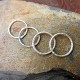 Sterling Silver Twig Rings: Single Band