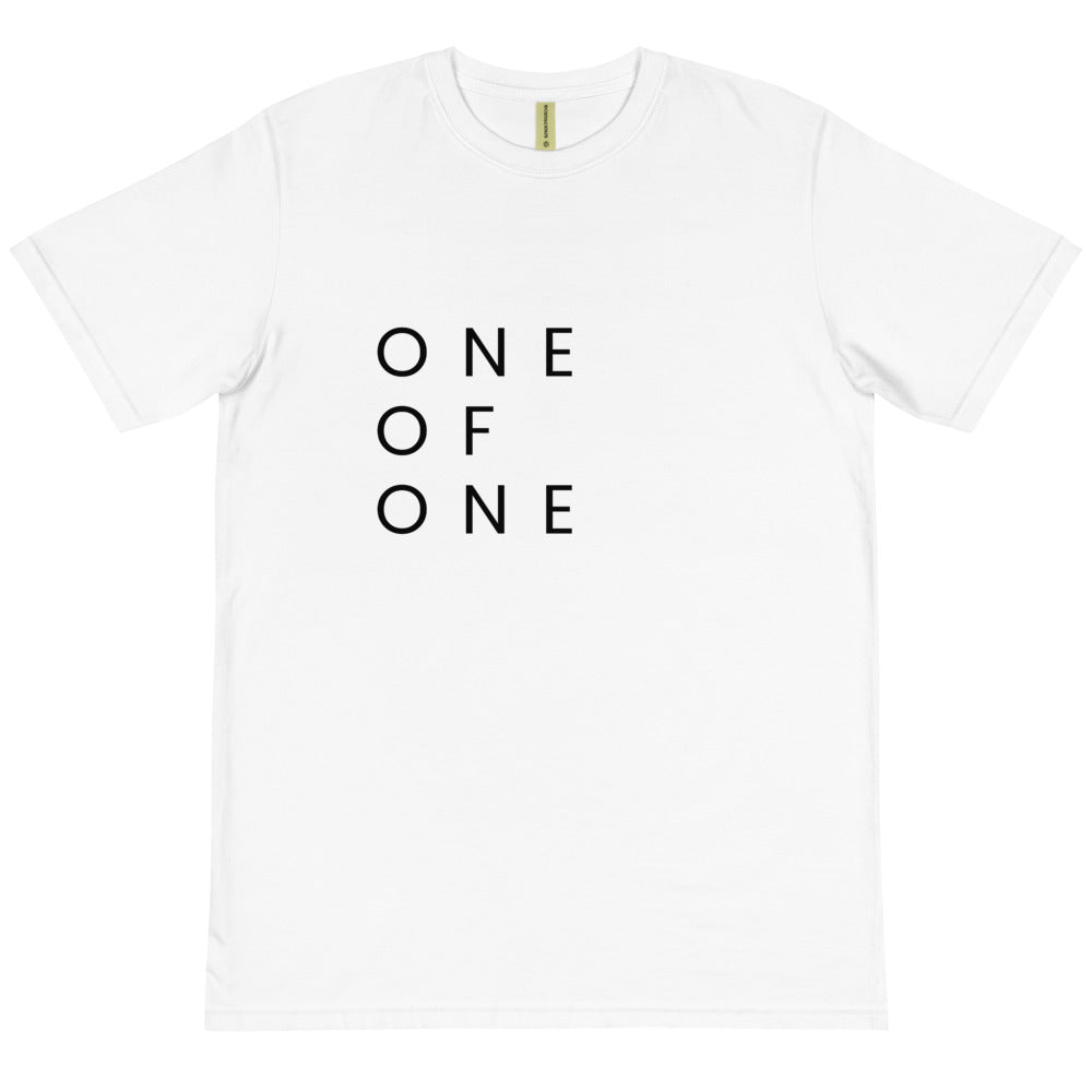 One of One Stacked Tee - 100% Organic (white)