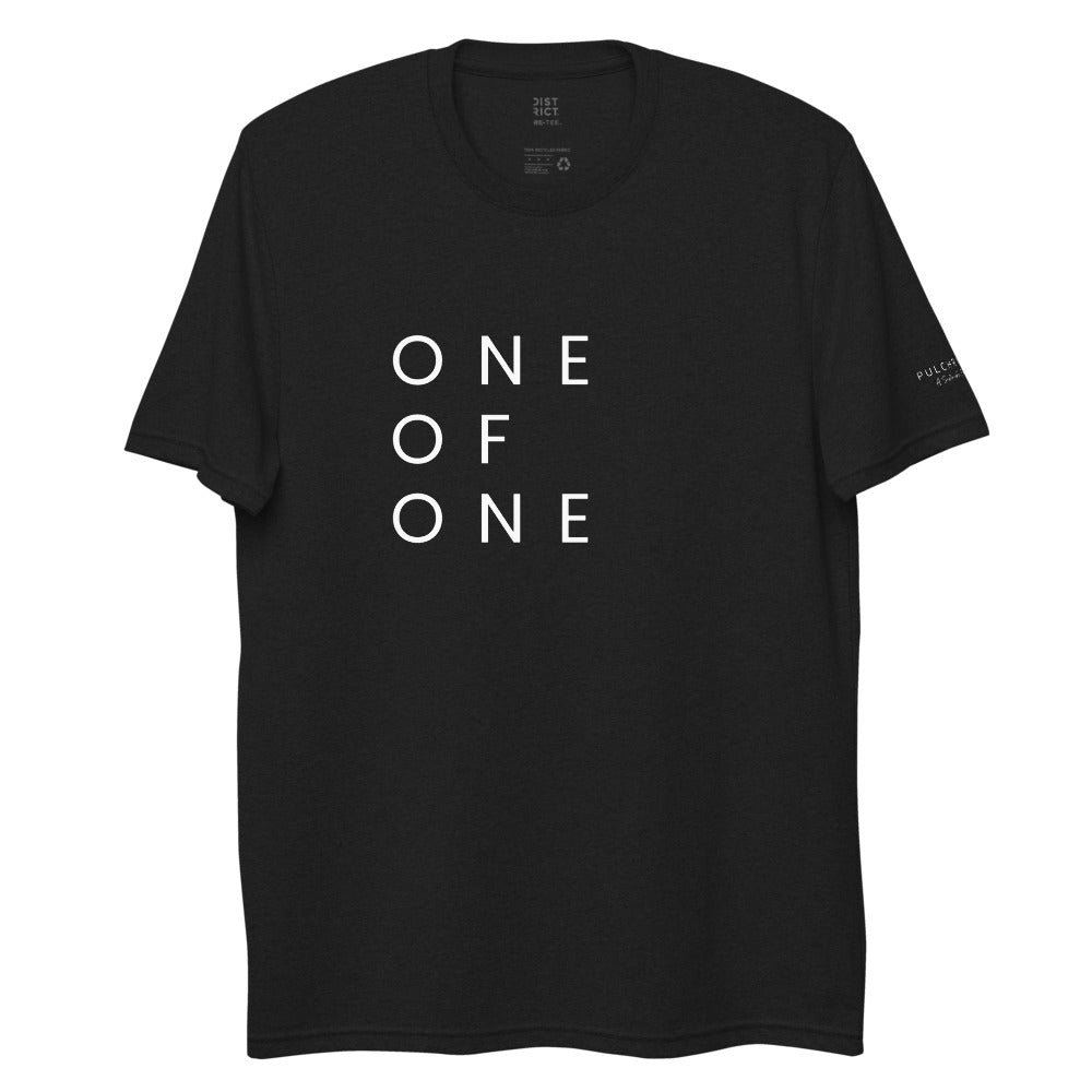 One of One Stacked Tee - 100% Organic (black)