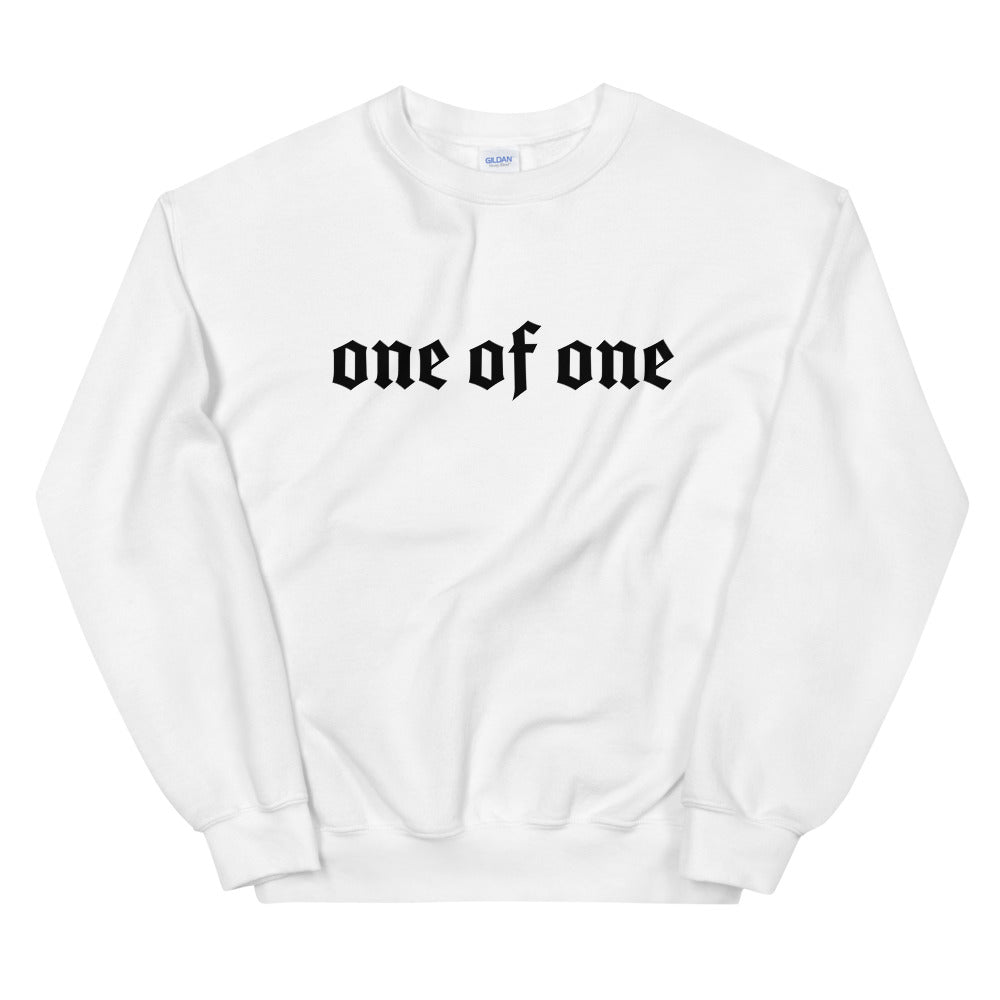 1 Of A Kind Crewneck (white)