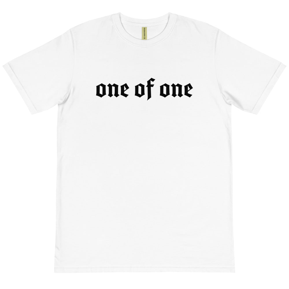 1 Of A Kind 100% Organic T-shirt (white)
