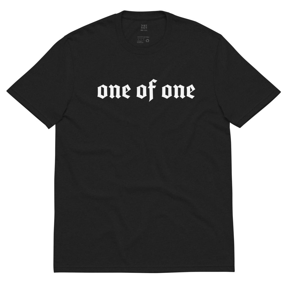 1 Of A Kind Recycled T-shirt (black)