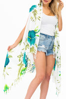Blossomed Hibiscus Cover Up Vest