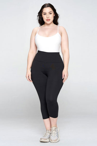 High Rise Casual Capri Leggings
