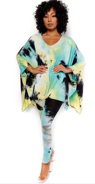 2pc Tie Dye Set (Mint)