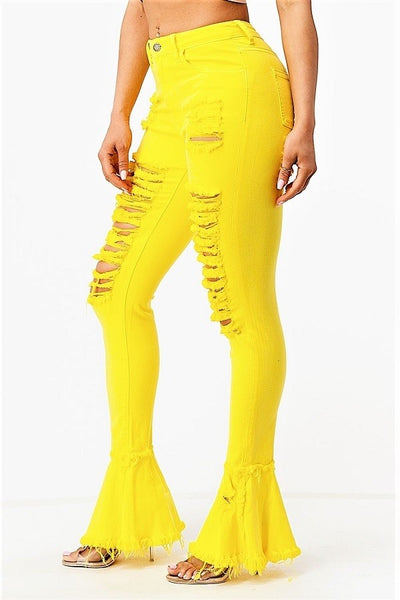 Neon Yellow Denim Jeans