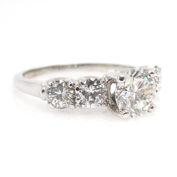 Carat and a Half+ Diamond Engagement Ring in White Gold