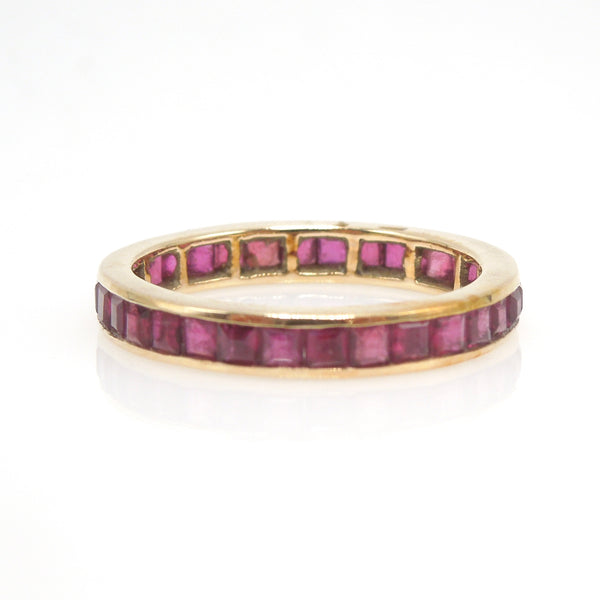 Yellow Gold and Ruby Eternity Band