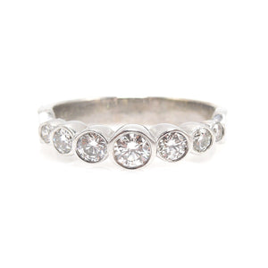 0.65ct Diamond Wedding Band in 14K White Gold