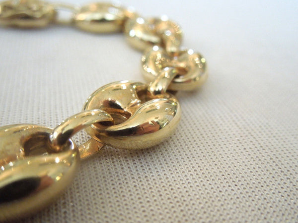 8 inch 14K Yellow Gold Link Bracelet
