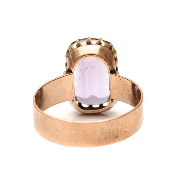 Victorian 10K Yellow Gold and Amethyst Ring