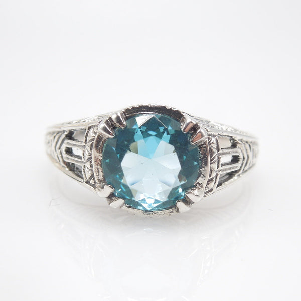 1 carat Alexandrite or Aquamarine in Sterling Silver Filigree Mounting