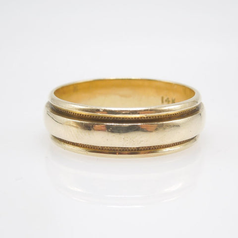 Vintage 14K Yellow Gold Gents Wedding Band (ca. 1955)