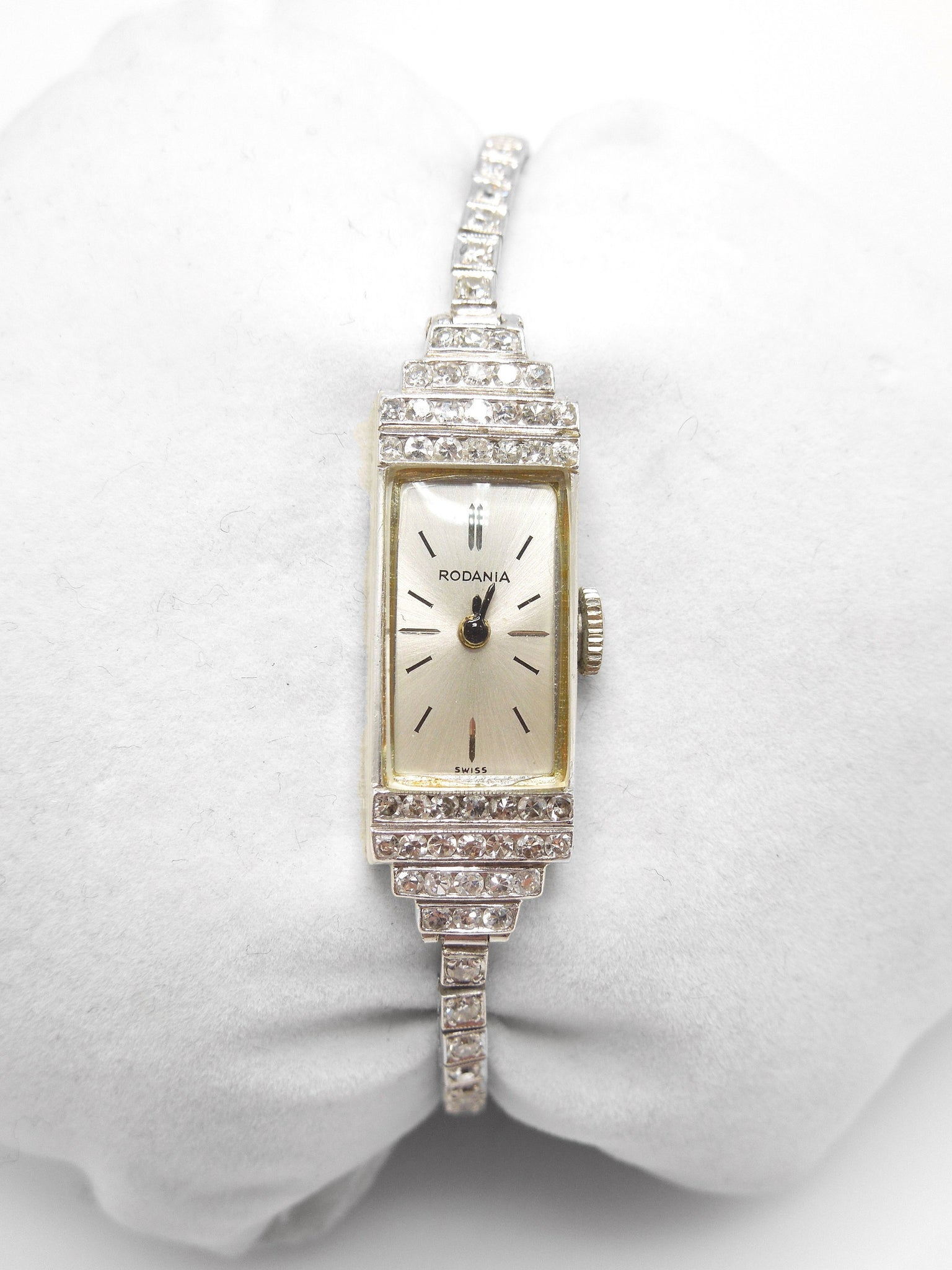 Antique Platinum and Diamond Rodania Ladies Wristwatch