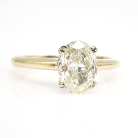 1.49ct Oval Diamond Solitaire in 14K Yellow Gold