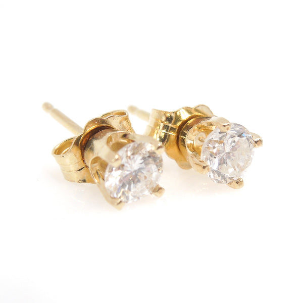 0.50ctw Pair of Diamond Stud Earrings in Yellow Gold